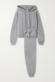 Allude Cotton and cashmere-blend hoodie and track pants set