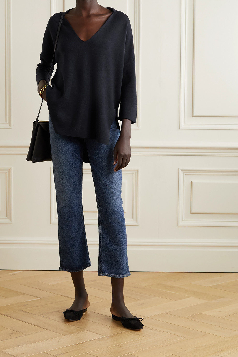 Allude Oversized wool sweater