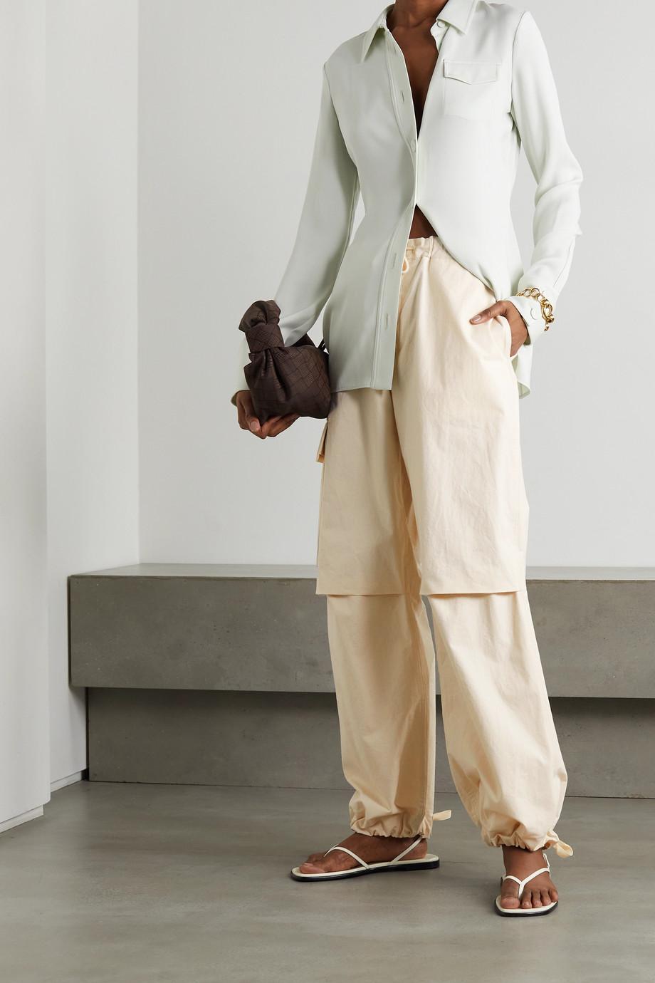 Jil Sander Washed cotton cargo pants