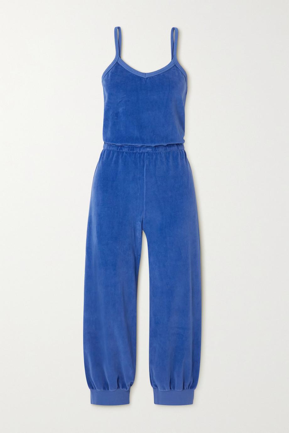 Suzie Kondi Combi-pantalon raccourcie en velours de coton mélangé Tank