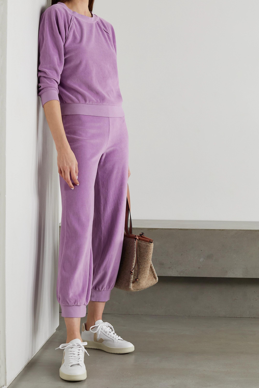 Suzie Kondi Sweatshirt aus Velours aus einer Baumwollmischung