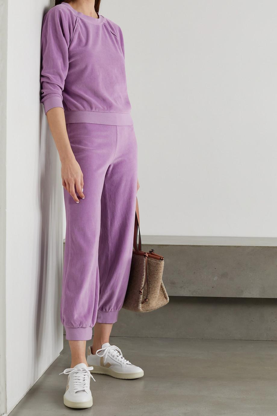 Suzie Kondi Cotton-blend velour sweatshirt