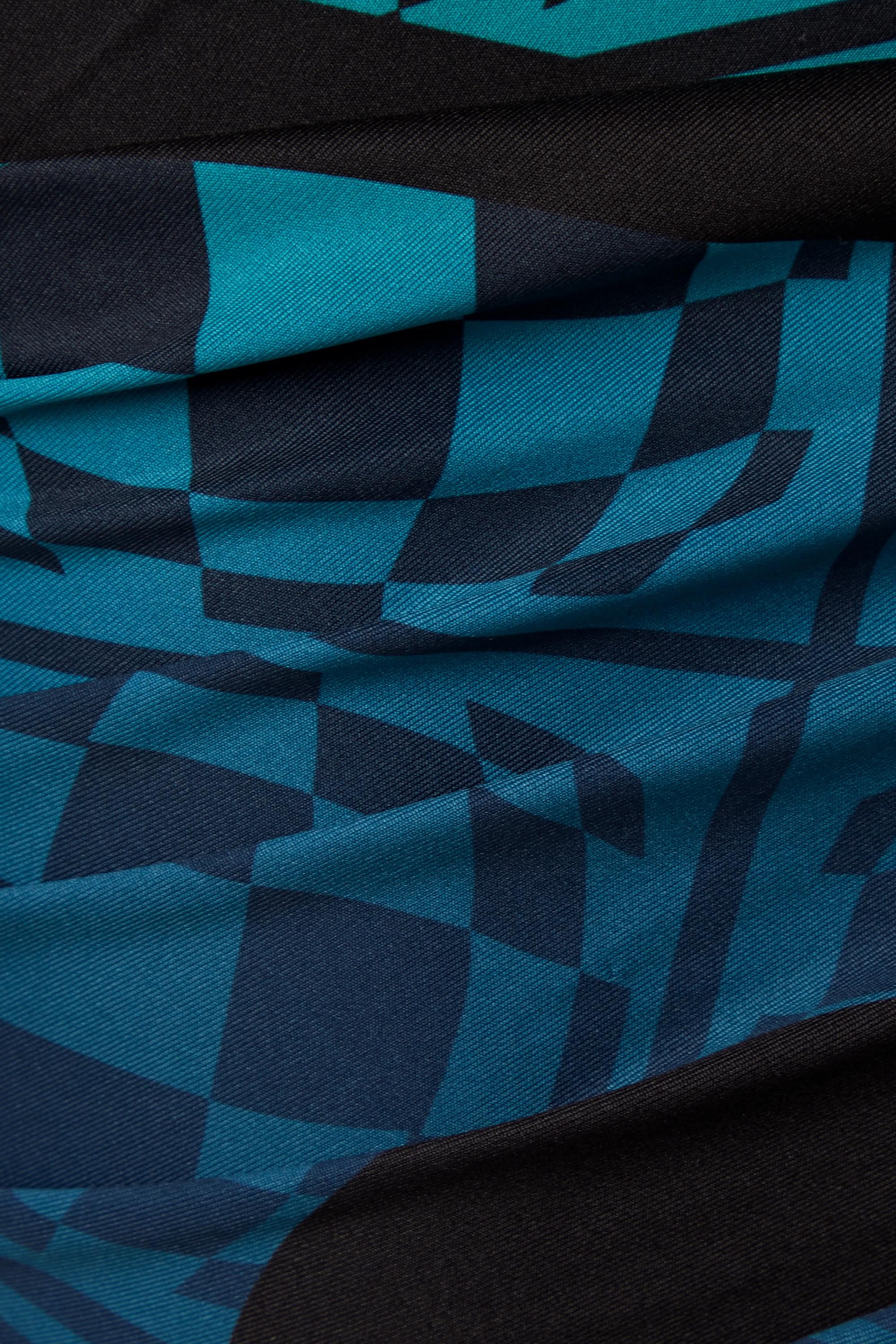 Maisie Wilen Orbit City asymmetrisches Minikleid aus bedrucktem Stretch-Jersey