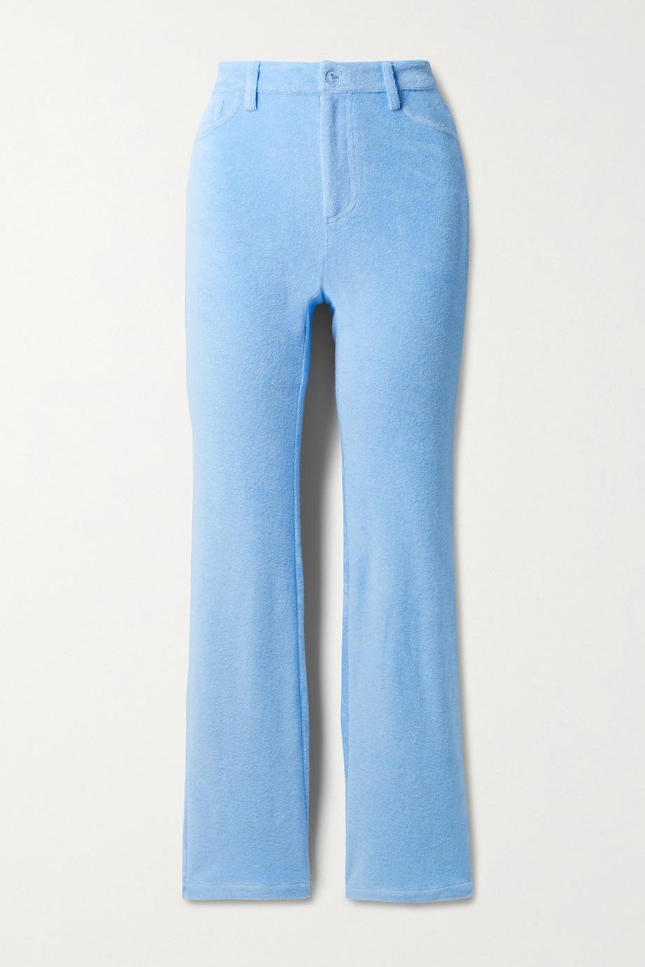 Maisie Wilen Mockumentary cotton-blend terry straight-leg pants