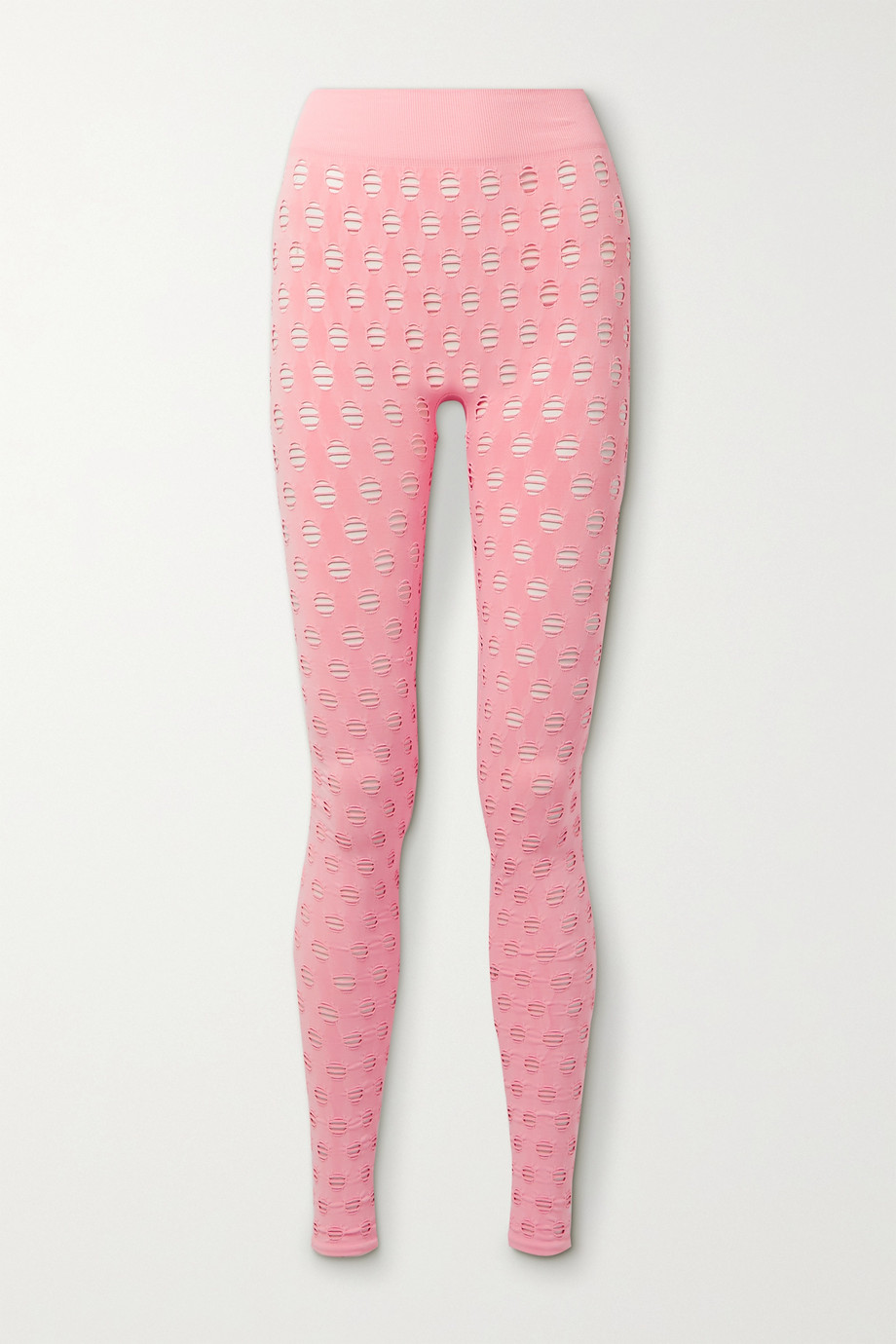 Maisie Wilen Perforated stretch-jersey leggings