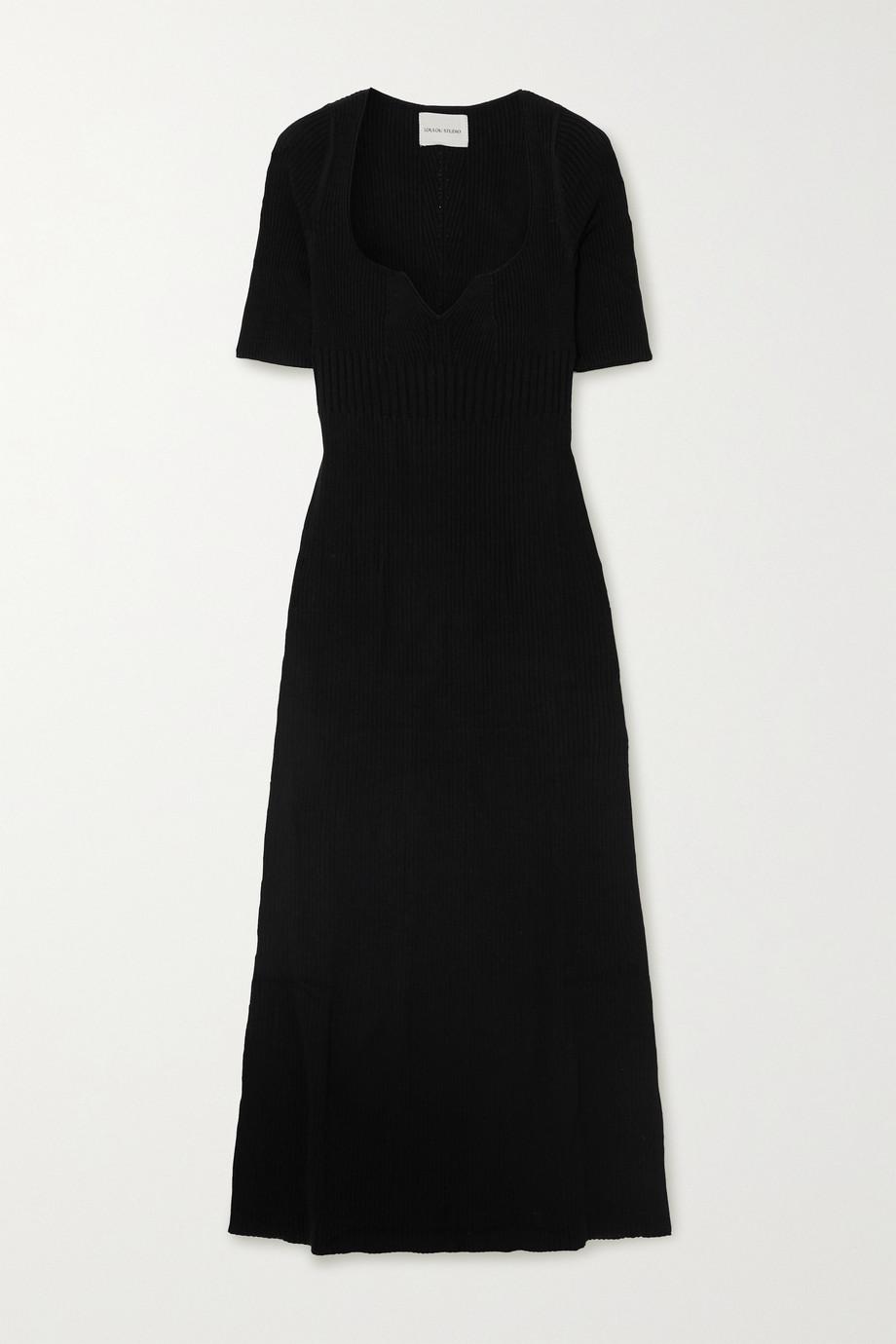 LOULOU STUDIO Chelat ribbed silk-blend midi dress