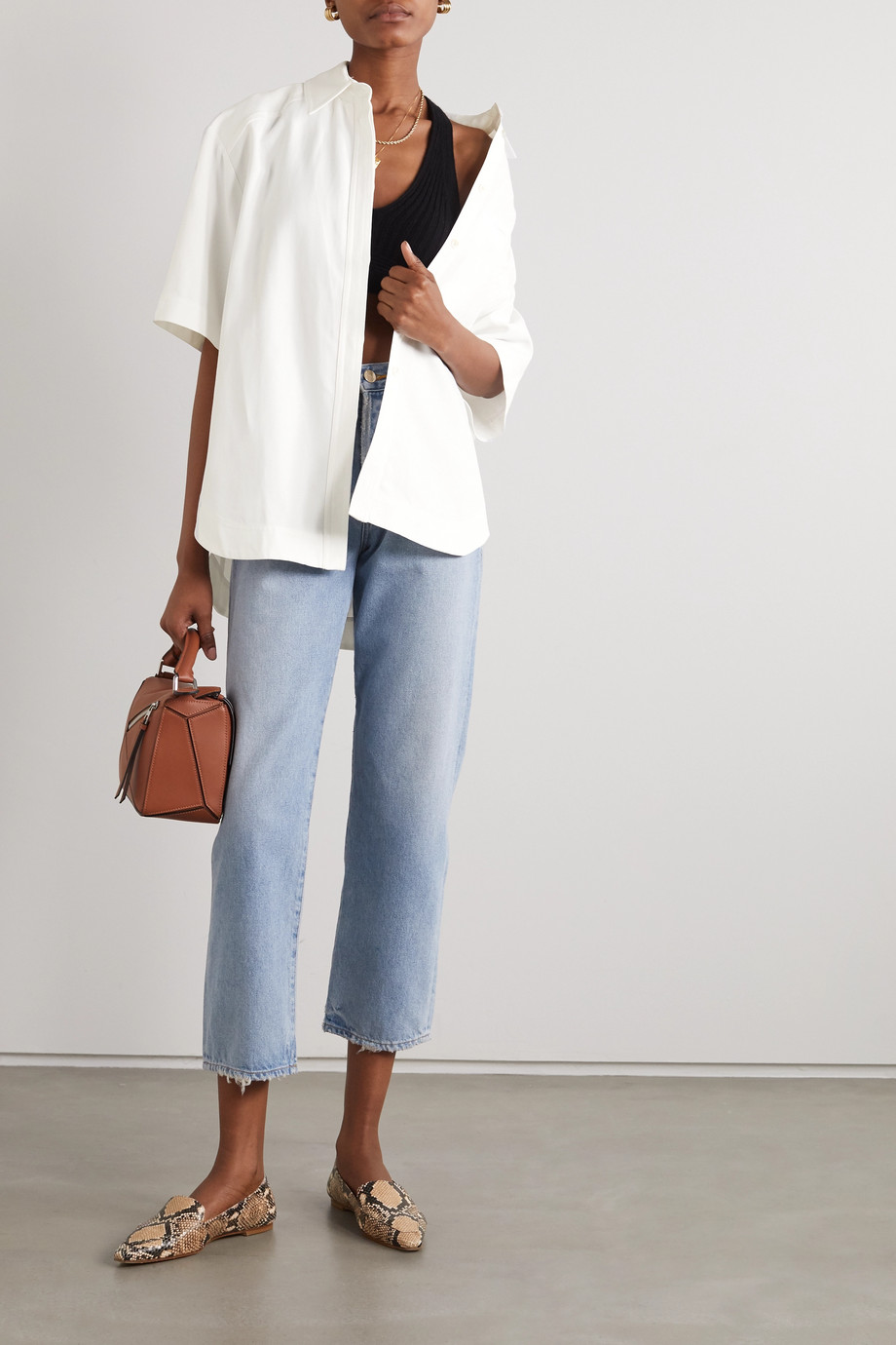 LOULOU STUDIO Moheli woven shirt