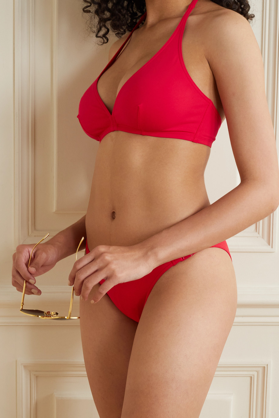 Eres Les Essentiels Gang triangle halterneck bikini top