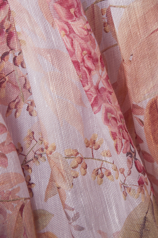Zimmermann Wild Botanica rückenfreies Minikleid aus einer Leinen-Seidenmischung mit Blumenprint und Cut-out