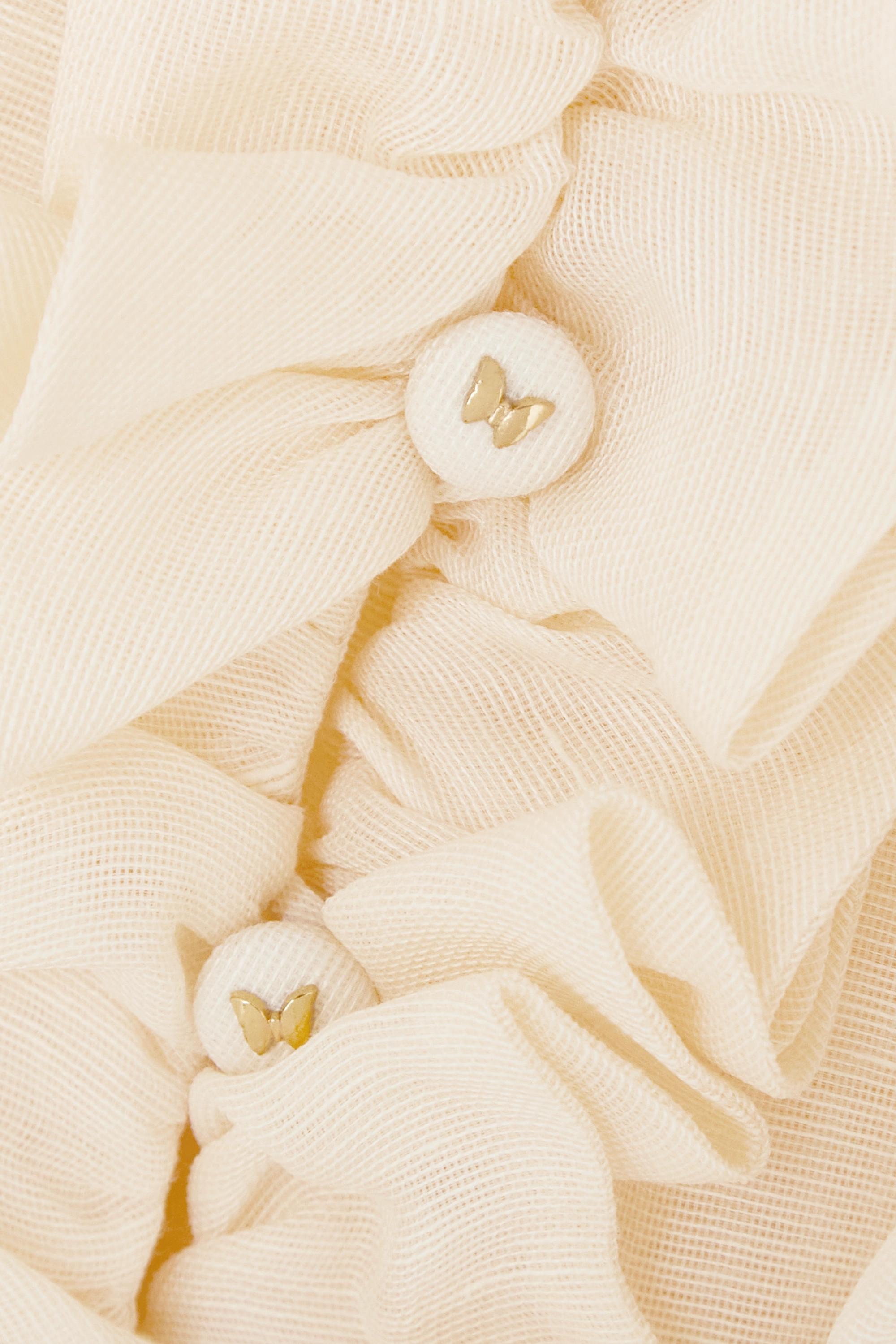 Zimmermann Wild Botanica Robe aus einer Leinen-Seidenmischung mit Raffungen und Rüschen