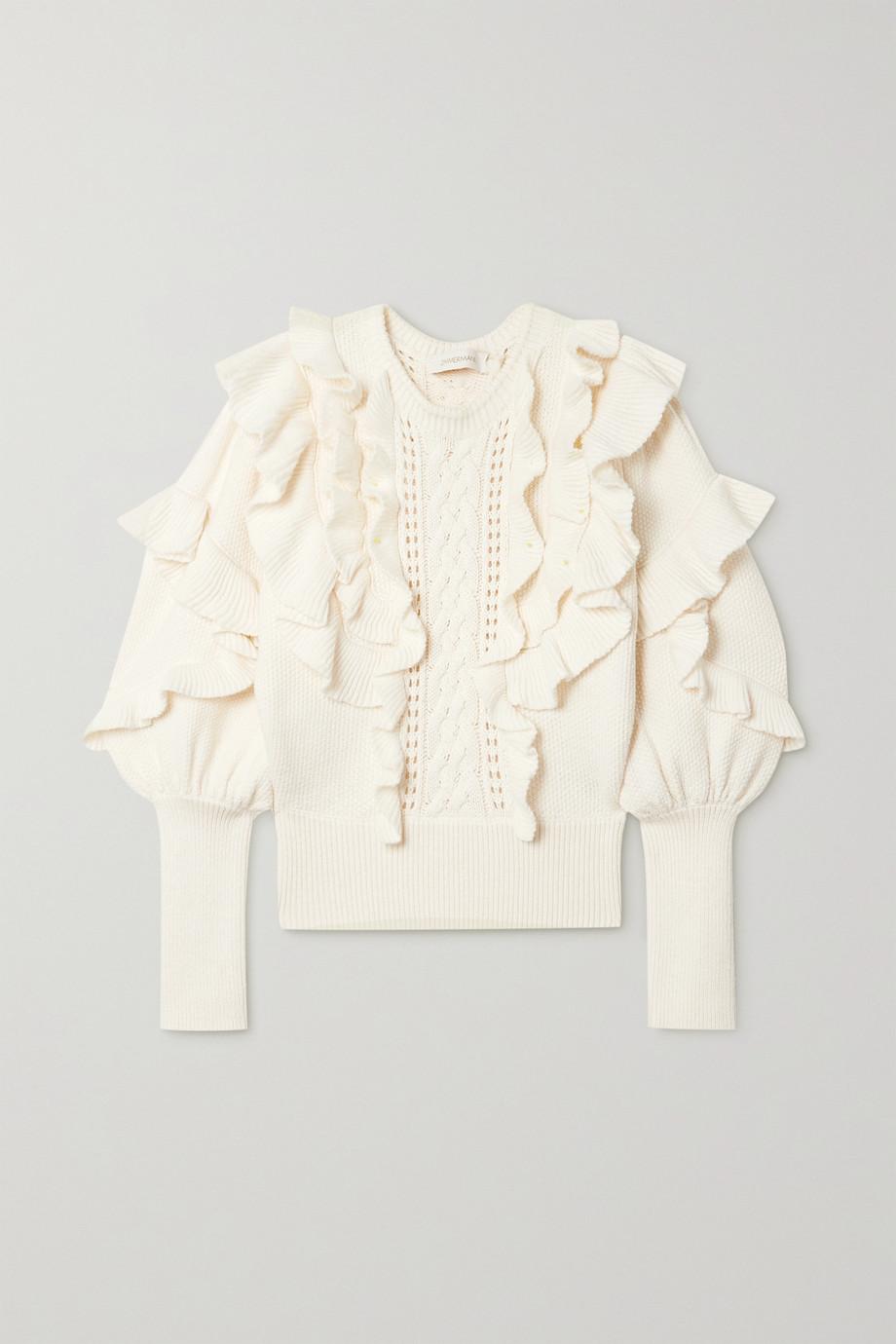 Zimmermann Botanica ruffled wool sweater