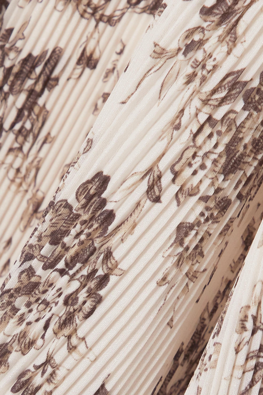 Zimmermann Wild Botanica Midirock aus plissiertem Crêpe mit Blumenprint
