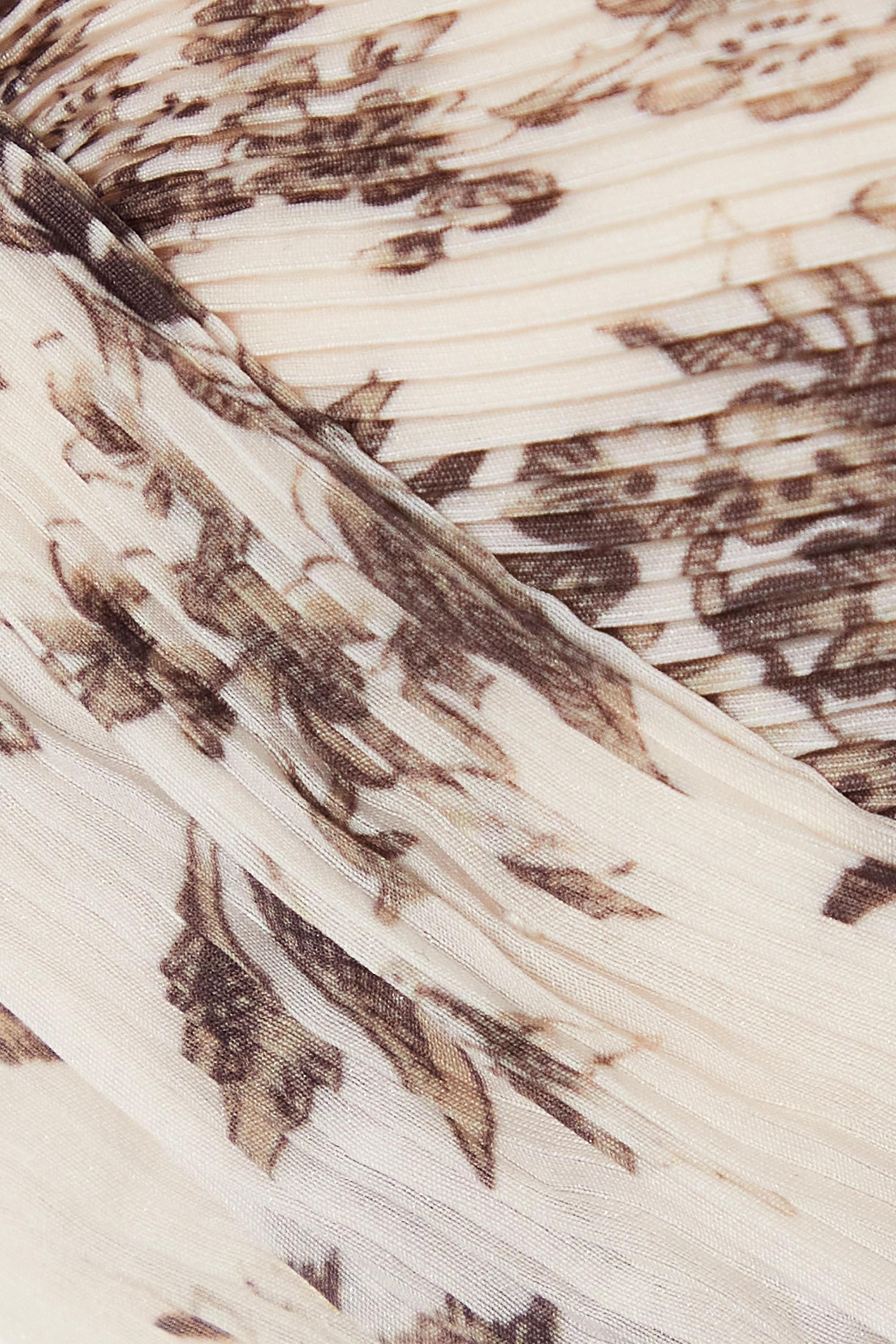 Zimmermann Wild Botanica verkürztes Oberteil aus plissiertem Crêpe mit Blumenprint