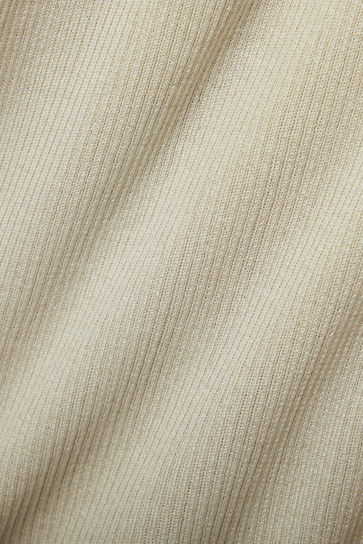 Co Ribbed silk cardigan