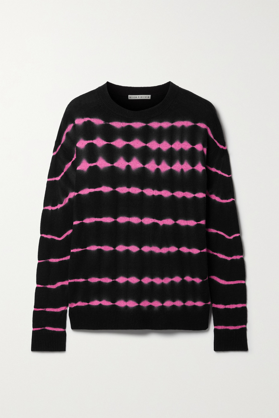 Alice + Olivia Gleeson tie-dyed cashmere-blend sweater