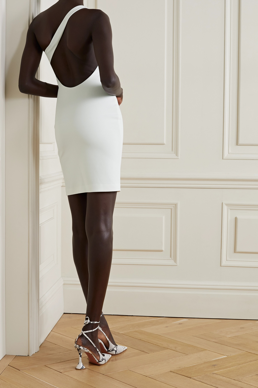 Alice + Olivia Rosia open-back one-shoulder stretch-jersey mini dress