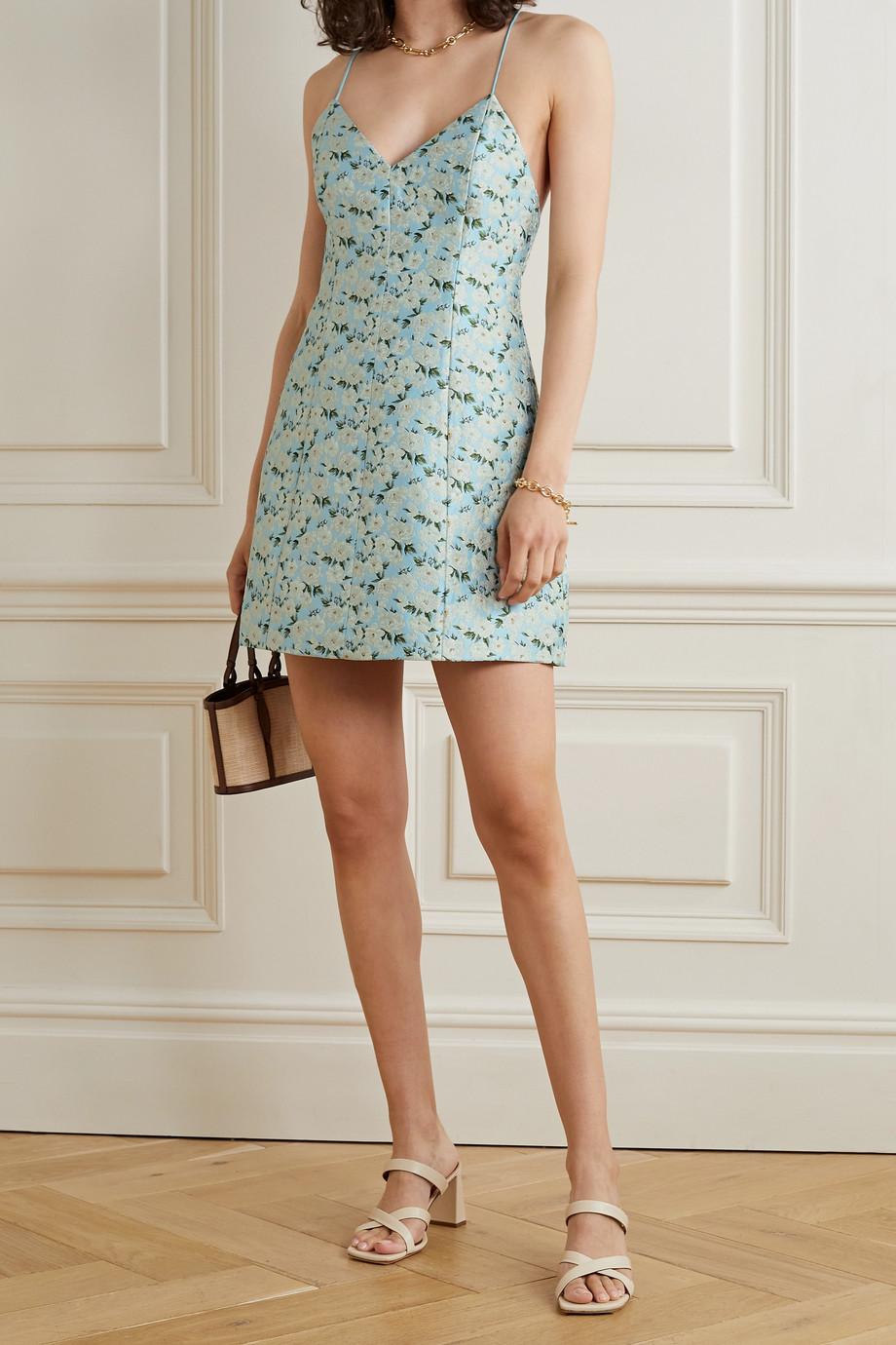 Alice + Olivia Tayla floral-brocade mini dress