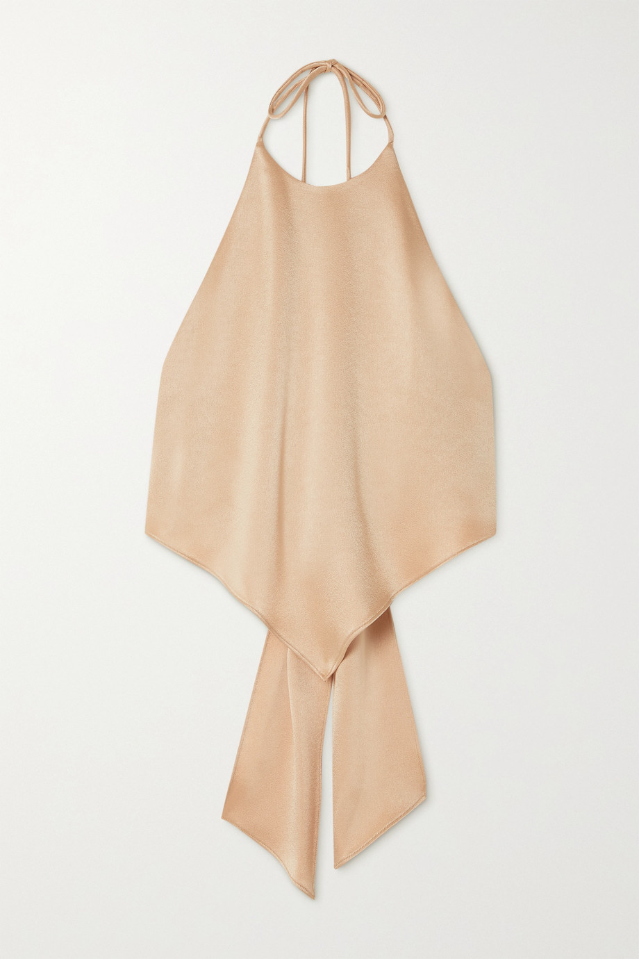 Alice + Olivia Frenchie bow-detailed satin halterneck top