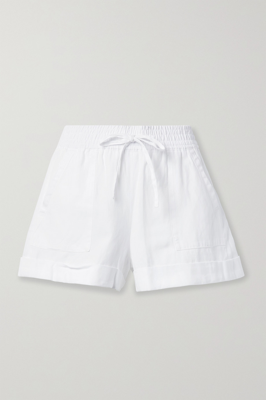 Alice + Olivia TENCEL Lyocell, linen and cotton-blend shorts