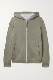 Brunello Cucinelli Bead-embellished cotton-blend hoodie