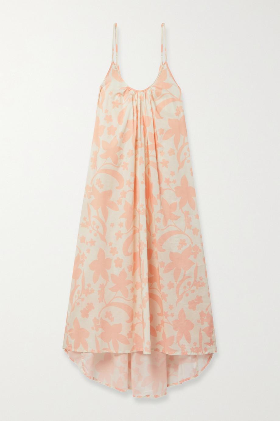 Pour Les Femmes Asymmetrisches Nachthemd aus Baumwolle mit Blumenprint
