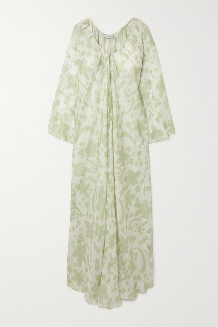Pour Les Femmes Floral-print silk-habotai nightdress