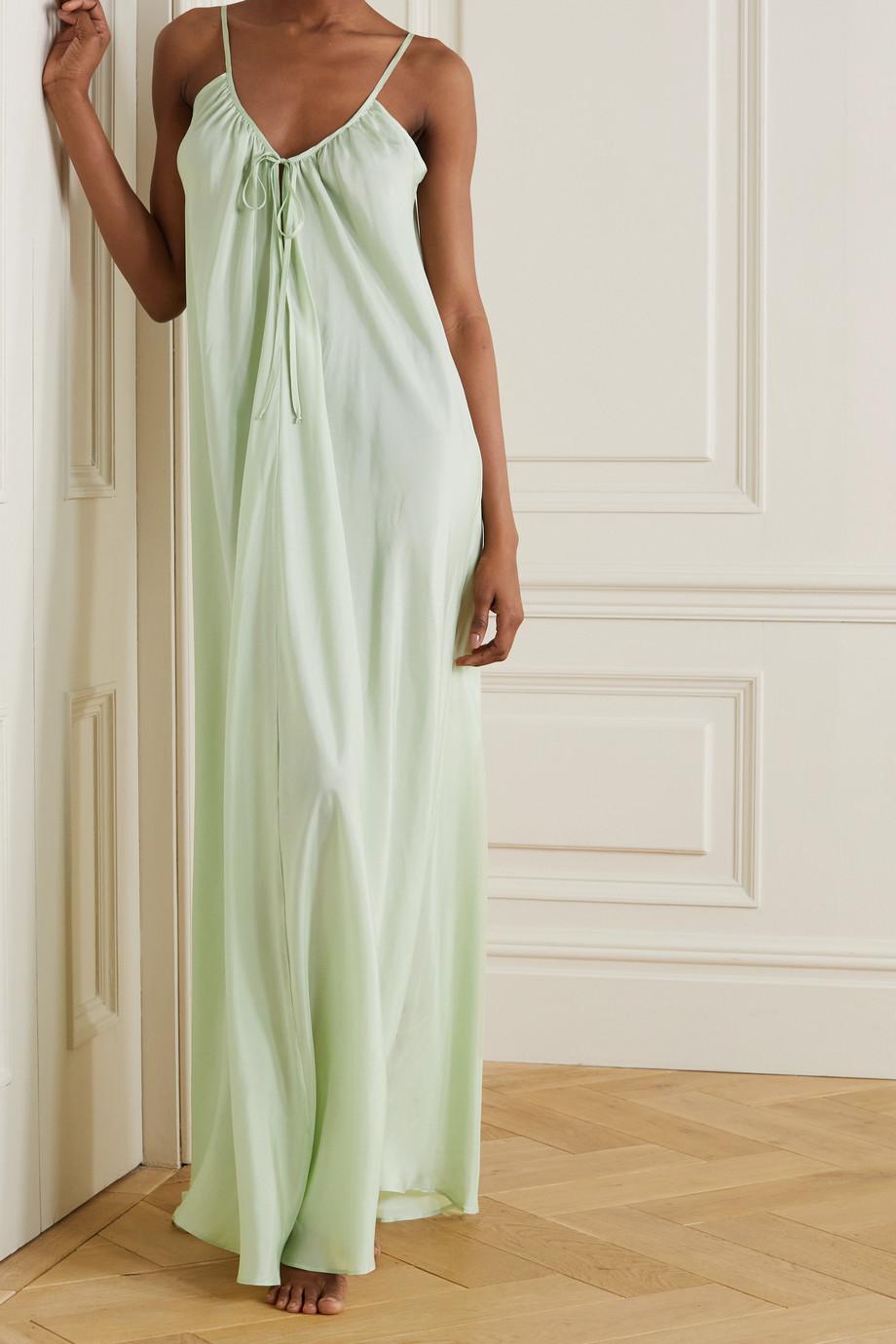 Pour Les Femmes Silk-habotai nightdress