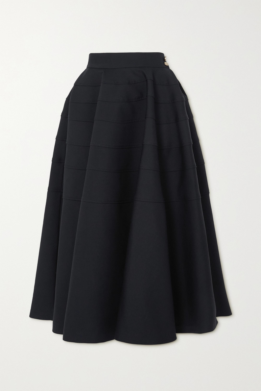 Loewe Pleated wool-twill midi skirt