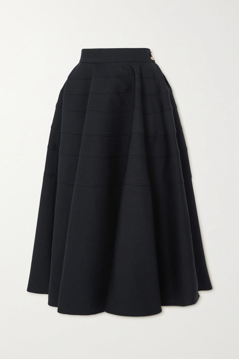 Loewe Pleated wool-twill midi skirt