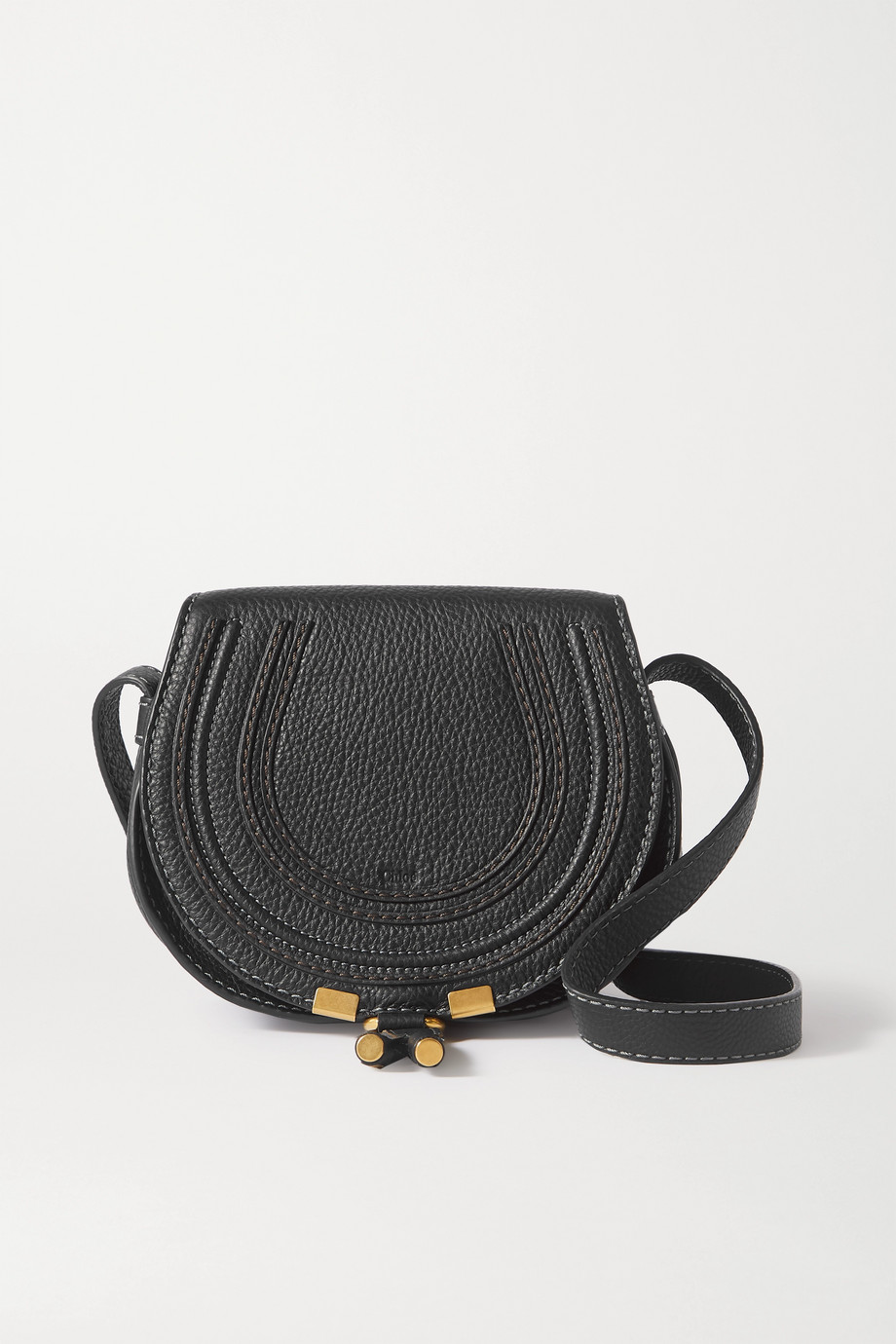 Chloé Sac porté épaule en cuir texturé Marcie Mini