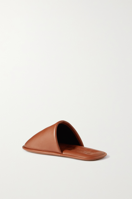Loewe Logo-embossed leather slippers