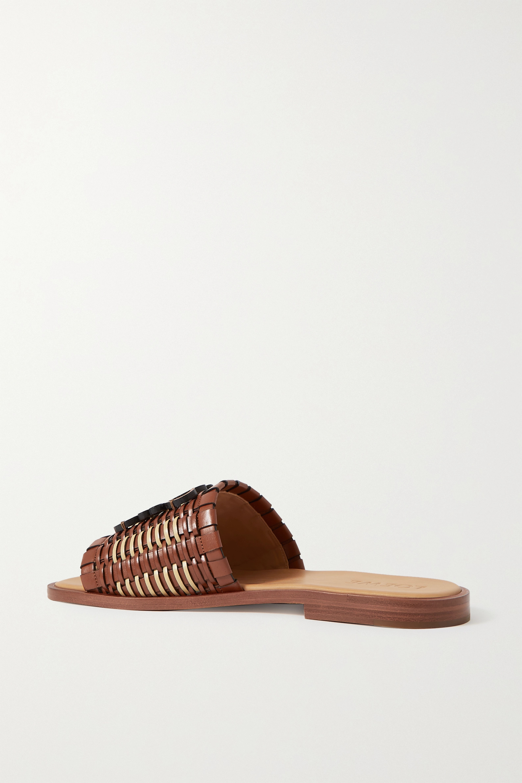 Loewe Anagram woven leather slides