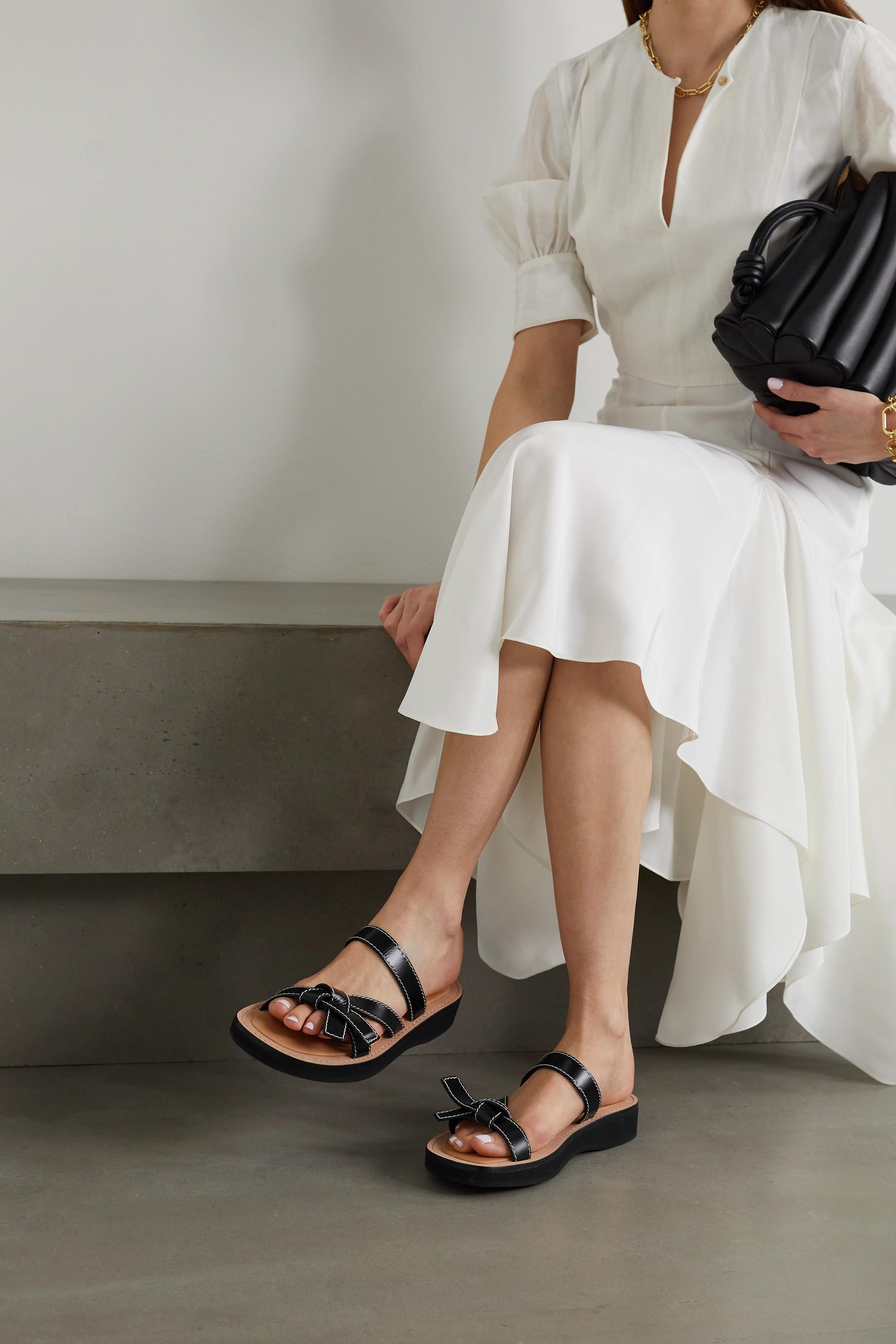 Loewe Gate leather sandals
