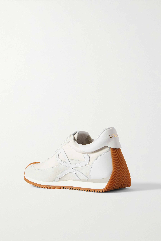 Loewe Flow logo-appliquéd leather and suede sneakers