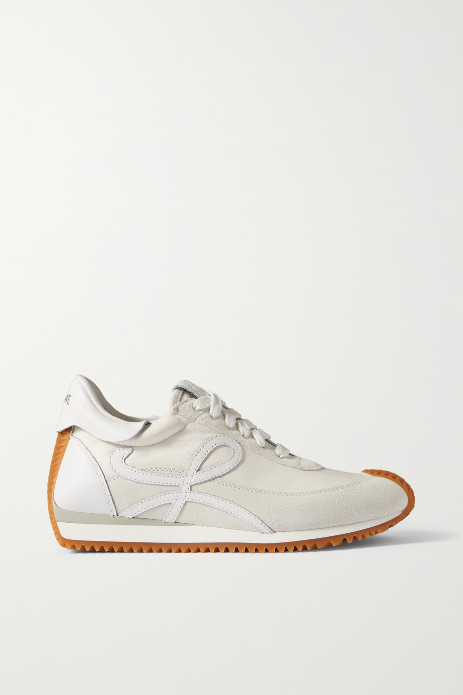 Loewe Flow logo-appliquéd leather and suede sneakers