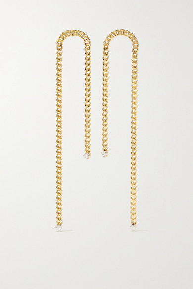 Delfina Delettrez 18-karat Gold Diamond Earrings