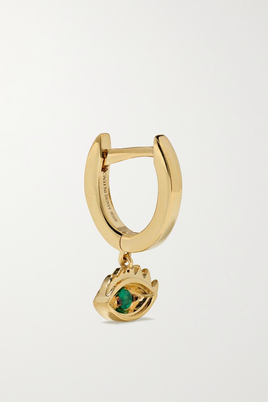 Delfina Delettrez Boucle d'oreille en or 18 carats et émeraudes