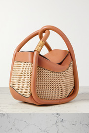 BOYY Wonton 20 leather and macramé raffia tote