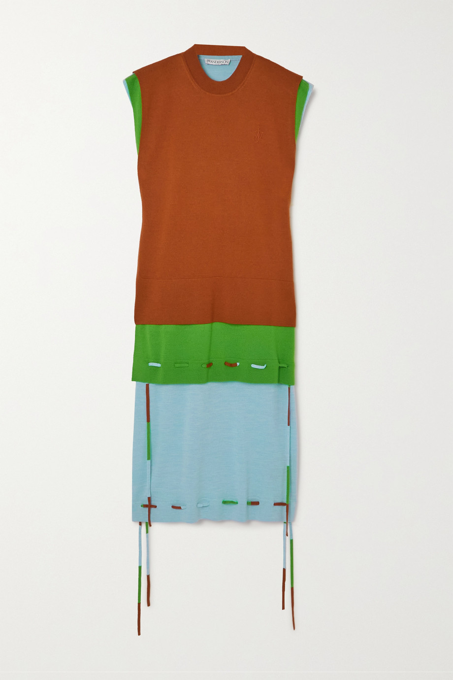 JW Anderson Robe à superpositions en laine mérinos