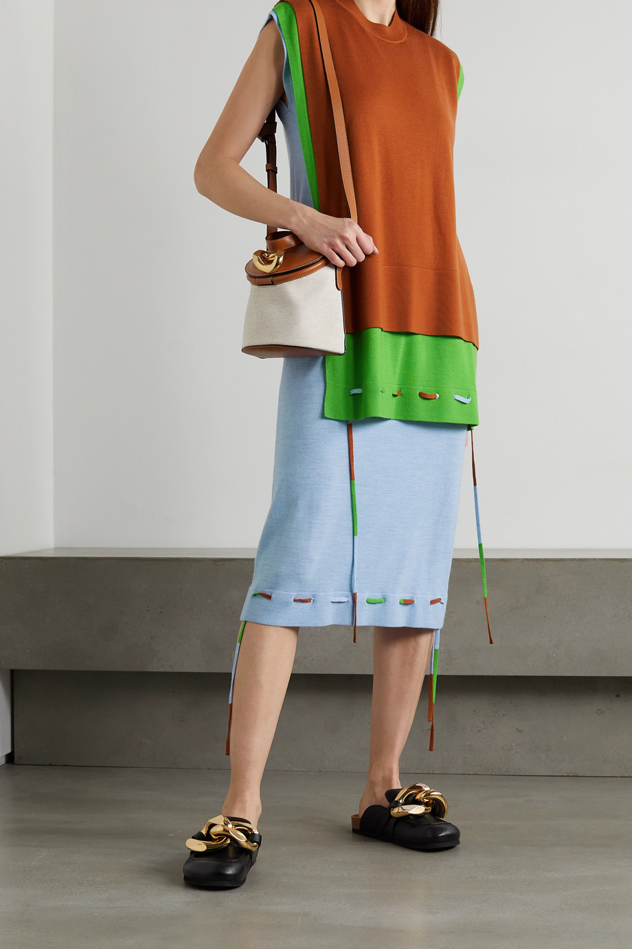 JW Anderson Mehrlagiges Kleid aus Merinowolle