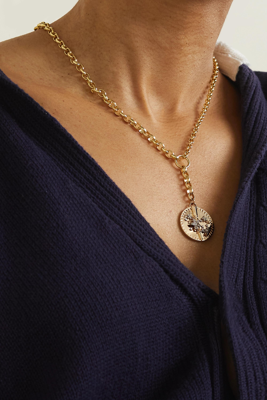 Foundrae Blossoms large 18-karat gold diamond necklace