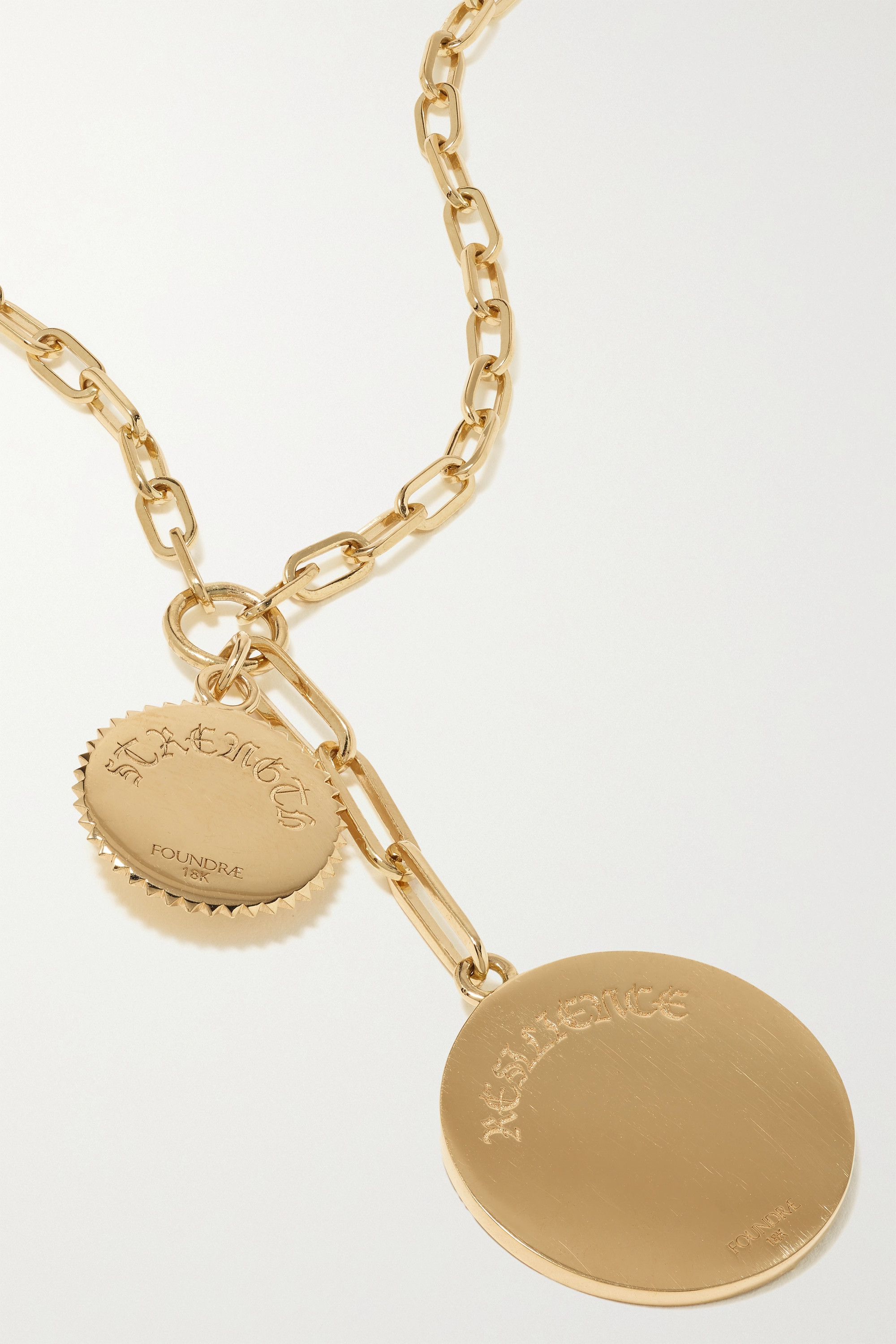 Foundrae Resilience and Strength 18-karat gold, enamel and diamond necklace