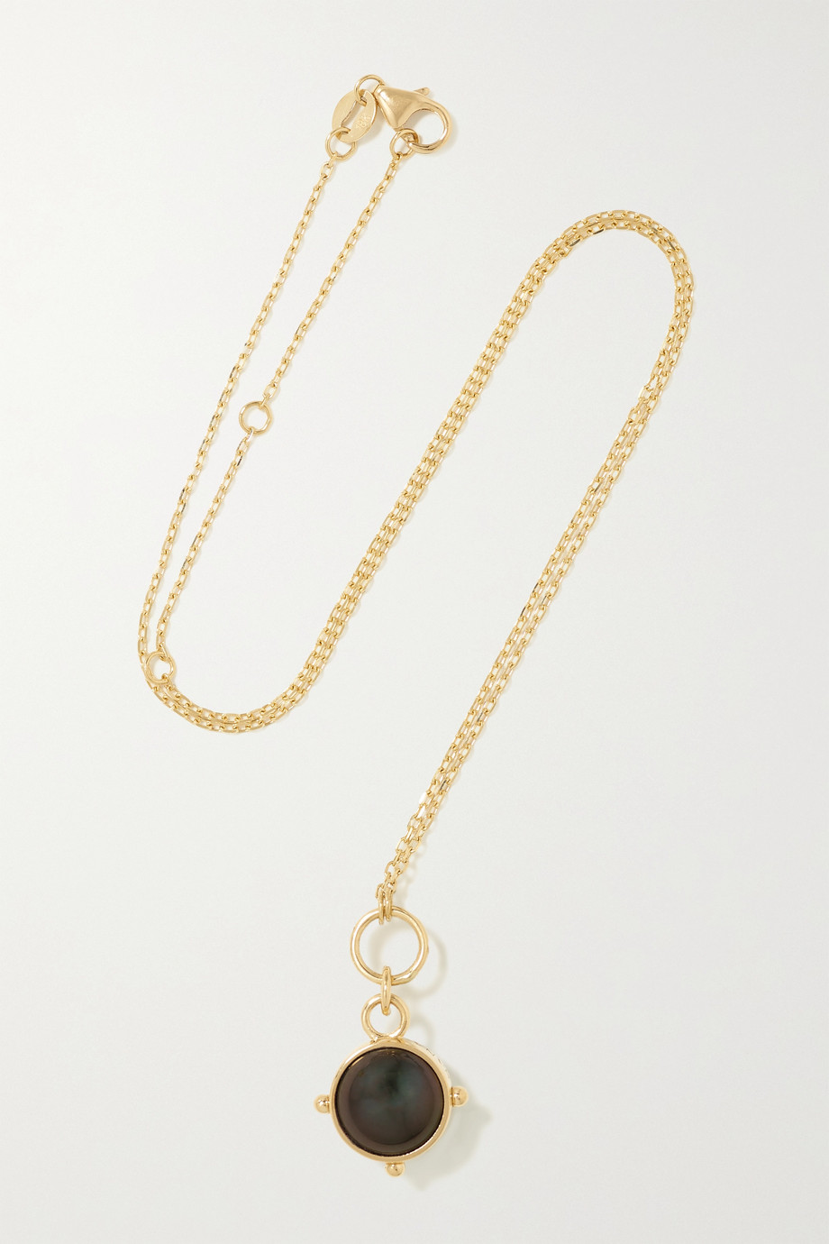 Foundrae 18-karat gold pearl necklace