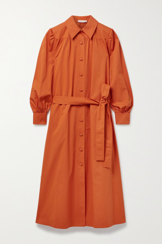 Tory Burch Artist belted cotton shirt dress