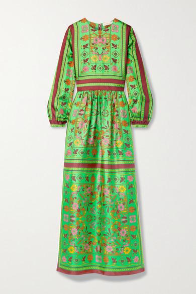 Tory Burch Silks PRINTED SILK-TWILL MAXI DRESS