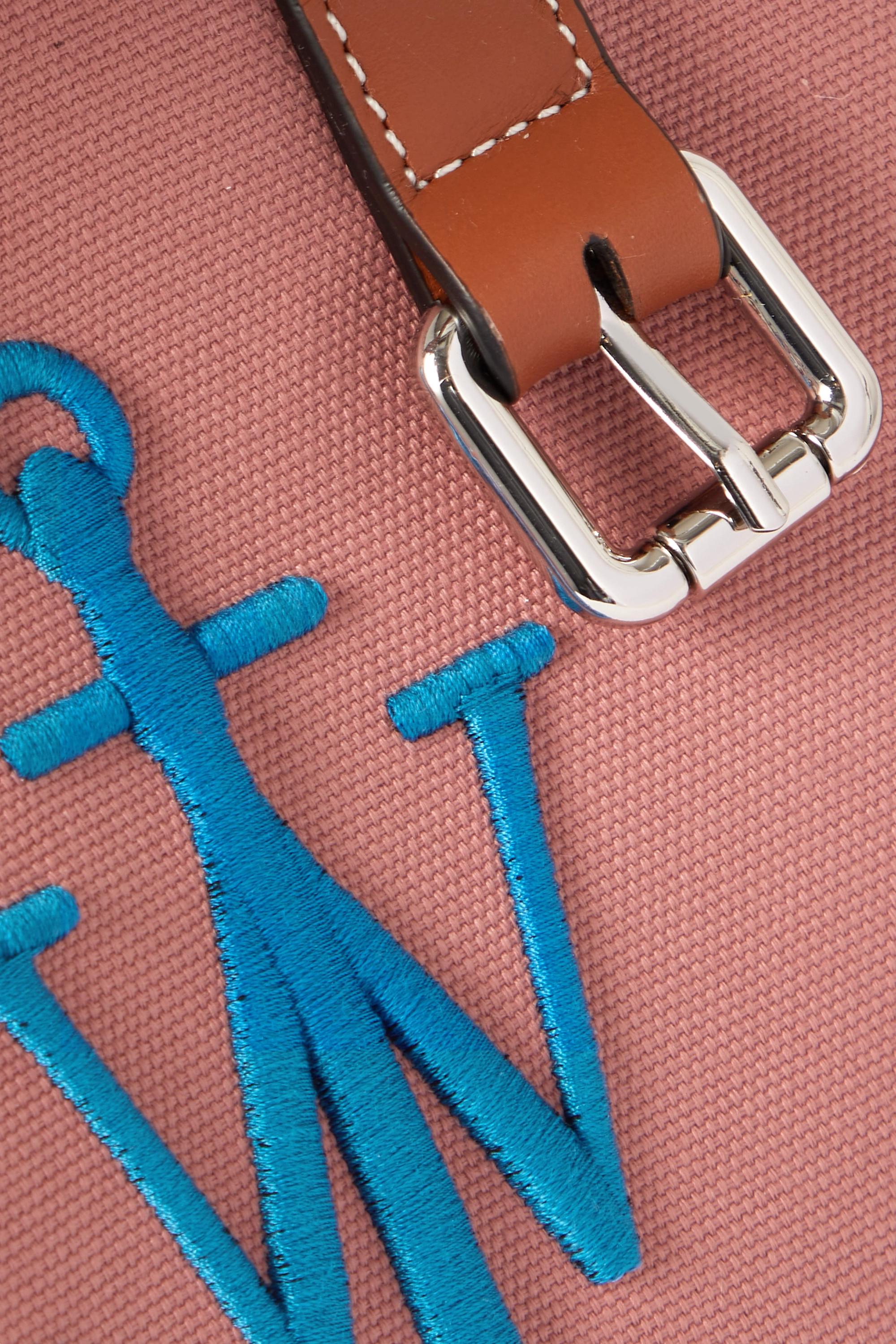 JW Anderson Sac à main en toile à broderies et à finitions en cuir Belt Mini