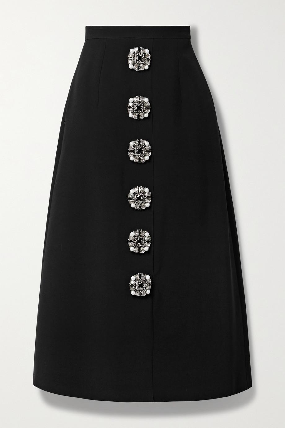 Andrew Gn Embellished crepe midi skirt