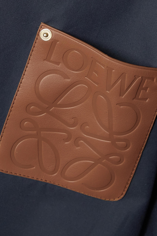 Loewe Cape à capuche convertible en serge de coton à finitions en cuir