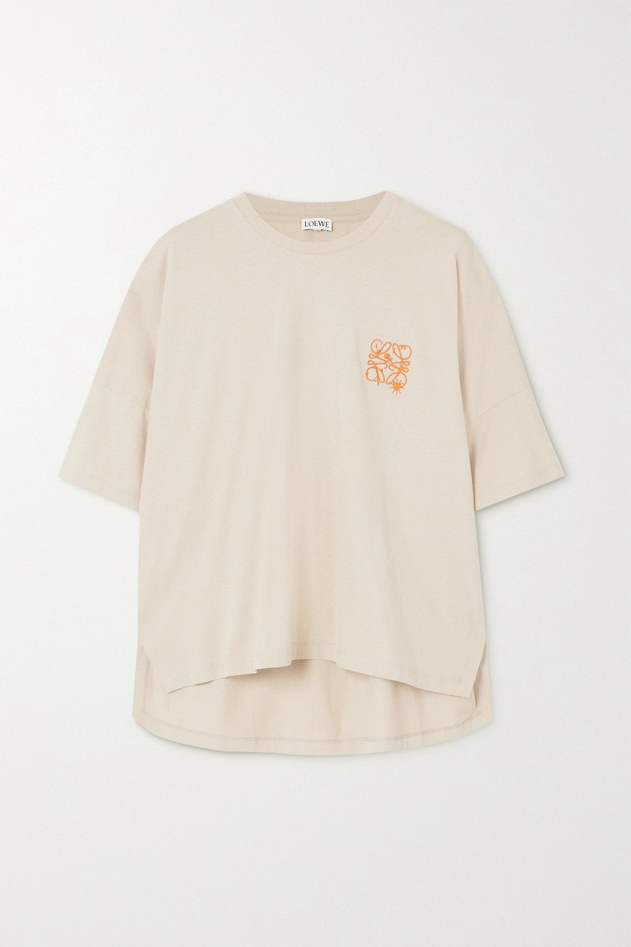 Loewe Oversized embroidered cotton-jersey T-shirt