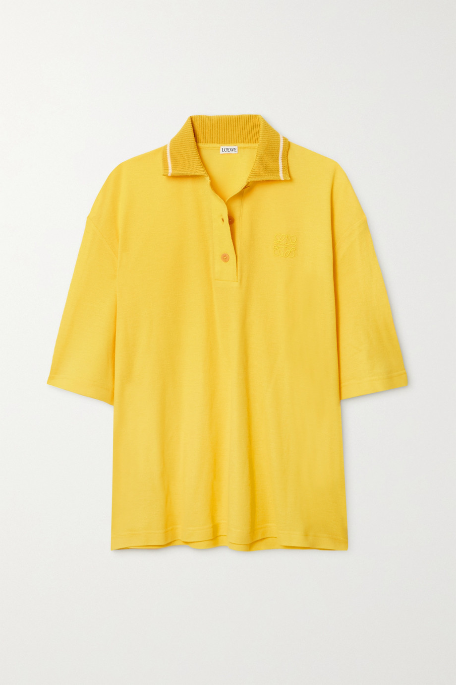 Loewe Oversized cotton and cashmere-blend piqué polo shirt